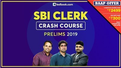 SBI Clerk Crash Course - Prelims 2019